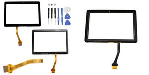 Touch Screen for Samsung Galaxy Tab 2 10.1 P5100 P5110 N8000 P7500 Front Outer Glass Panel Glass Digitizer + Adhesive Replacement Parts