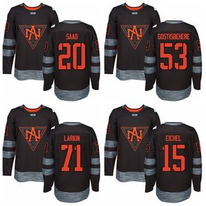 Coppa del mondo di hockey su ghiaccio 2016 53 Shayne Gostisbehere maglie del Nord America 5 Aaron Ekblad 13 Johnny Gaudreau 55 Mark Scheifele 44 Morgan Rielly