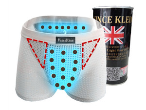 Britain who pants authentic gold canned ninth hollow out mesh underwear men of magnetic therapy and health protection of ice silk boxer brie