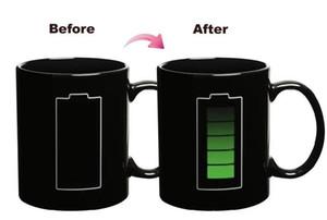 Creative The Icon Taza de temperatura Magic Battery Charging Decoloration Cup Taza de café Tea Tazas de agua Copos My Bottle Tazas Cafe