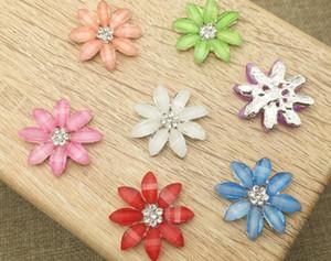 50pcs Rhinestone Crystal Daisy Flower Beads Button Flatback per Scrapbooking Craft fai da te accessori per capelli