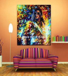 В рамке Майкл Джексон Джазовая Музыка Soul Play Figure, Высокое Качество Ручной Росписью Современный Поп-Арт Живопись Маслом на Холсте Мульти размеры 173