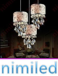 nimi846 1/3-Lights Modern Luxury Cloth + K9 Crystal Chandelier Colgante de luces Escalera Lámpara colgante Lámparas Comedor Restaurante Iluminación