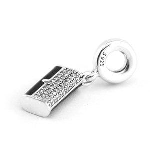 For 925 Silver Charms Jewelry Bag, Clutch Black Authentic Fits Sterling Beads Pandora Bracelets Fashion Enamel Women Vvsba