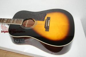 tastiera in palissandro di colore dello sprazzo di sole dell'annata di trasporto libero popolare popolare della chitarra elettrica acustica
