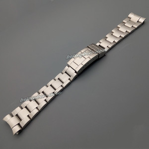20mm New silver brushed stainless steel Curved end watch band strap Bracelets For ROL SUB Vintage watch