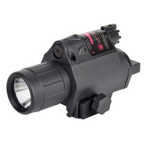 SINAIRSOFT горячие продажа светодиодный свет + красный лазерный прицел 2 в 1 Airsoft охота M6 CREE светодиодный фонарик тактический 200LM лазерный фонарик хвост переключатель