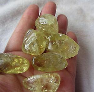 6 pcs belle pierre naturelle citronnée d'origine plus grande particules de citrine quartz pierre de gravier cristal spécial guérison
