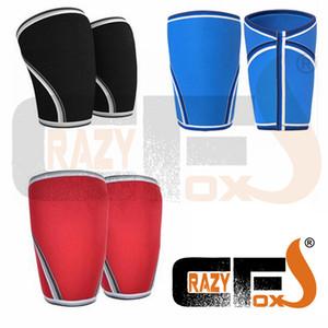 [A Pair / 2pieces] 7mm personalizado Compression 7mm Neoprene Knee Sleeve / Crossfit o levantamento de peso Sleeve