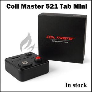 100% Orijinal Bobin Master 521 Tab Mini ohm metre coilmaster Dijital 521 Tab mini ohm-metre için bobin-master vape aracı kiti v3