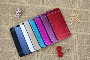 Iphone 7 7 плюс Case Motomo Case Core премьер алюминиевого сплава волочения проволоки case металл ультра тонкий гибридный PC case бесплатная доставка 50 шт. opp пакет