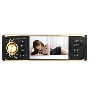 Universal Bluetooth 1 Din 4.1 '' HD No Painel Do Carro de Áudio Estéreo MP3 MP5 Player Controle Remoto Volante com Interface de Câmera de Visão Traseira