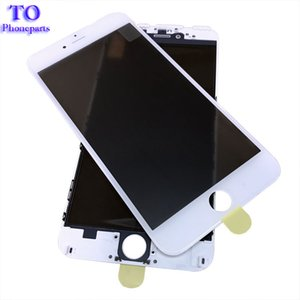 4 in 1 Cold Press Front Screen Outer Glass with Frame OCA+Polarizer For iPhone 7 6 6s plus 5 5s Screen Replacement
