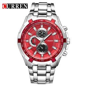 CURREN мужские часы топ бренд Люкс мужчины военные наручные часы Полный из нержавеющей стали спортивные мужские часы Relogio военные наручные часы 8023
