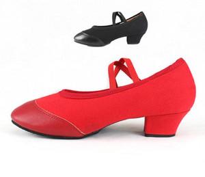 Nuove scarpe di tela jazz lace-up soft suola suola scarpe da ballo moderne palestra yoga karate scarpa da ginnastica scarpe da ginnastica piatte