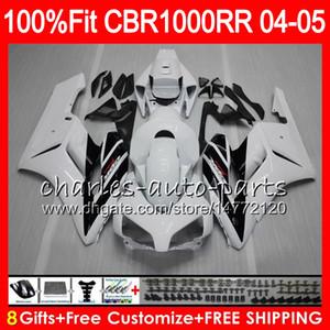 HONDA CBR 1000RR 04 için enjeksiyon beyaz siyah Gövde 05 Bodywork CBR 1000 RR 79HM10 CBR1000RR 04 05 CBR1000 RR 2004 2005 Fairing kit 100% Fit