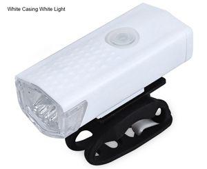 Lampe frontale de vélo de montagne rechargeable résistante à l'eau avec changeur USB pour accessoires de vélo de nuit