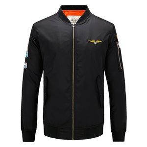 2021 Bomber Army Baseball Jacket Ma-1 Ma1 Style Men Green Military Motorcycle Thin Spring Flight Pilot Air Force Autumn Jacket Oaigb