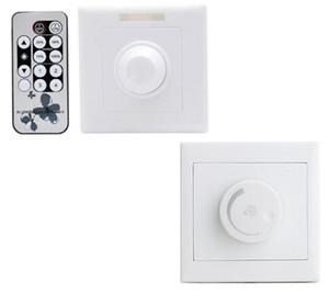 MOQ2 LED Interruptor Dimmer 220 V 110 V Wall Mounted Escurecimento Controlador de Brilho Ajustável com Controle Remoto para Lâmpadas de LED Lâmpada de Iluminação