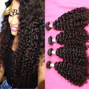 Bella Hair® 4шт 11А волос девственницы Bundle Бразильский Индийский перуанский Необработанные человеческих волос Weave завитые волны Natural Color Может быть окрашена 613