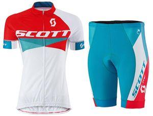 2015 SCOTT Kadınlar Pro Bisiklet Jersey Roupa Ciclismo / Nefes Çabuk Kuru Likra JEL Ped Yarışı MTB Bisiklet Önlüğü Pantolon Açık MTB dağ ...