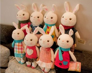 Atacado-Tiramisu brinquedos de pelúcia Metoo boneca crianças presentes 8 estilo, 35 centímetros Bunny Stuffed Animal LamyToy com caixa de presente, presentes de aniversário