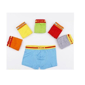 Mens Underwear Lycra Algodão Macio Little Boys Cueca Doce Cor Confortável Boxer Curto Cueca Para Crianças