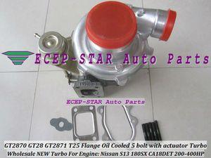 GT2870 GT28 GT2871 T25 Flange Enfriado por agua y aceite 5 pernos con actuador Turbo Turbocharger For Nissan Engine S13 180SX CA18DET 200HP-400HP