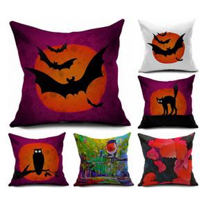 Neuer Entwurfs-Kissenbezug Dekoration Bat Owl Druck Gedruckt Dekorative Kissenbezug Pillowcase Sofa Platz Werfen Ornament Geschenk Auto