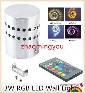 Modern 3W RGB Led Wall Light 85-265V 110V / 220V KTV Karaoke Bar Decoración LED Lámparas de pared para sala de estar Restaurante Cafetería