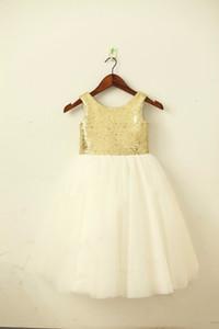 Altın / Allık Pembe PulluTulk Çiçek Kız Elbise Şampanya / Donanma Kanat Bow Düğün Çocuk Paskalya Genç Komünyon Vaftiz Elbise