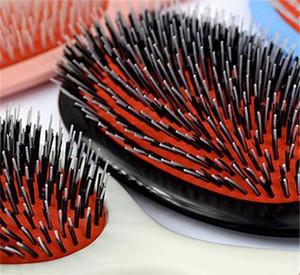 Vendita calda Mason Hair Brush con massaggio Paddle pettine Cinghiale setole Mix di nylon dei capelli della spazzola del pettine del barbiere spazzola di estensione dei capelli Hot