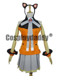 Vocaloid 3 Hatsune Miku SEEU косплей костюм полный комплект поставки частей