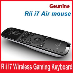 Mini Fly Air Mouse y teclado inalámbrico Combo Rii Mini i7 2.4G Air Mouse teclado remoto para HTPC Android TV Box PC portátil