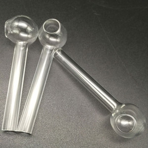 유리 오일 버너 파이프 흡연 두꺼운 유리 튜브 맞는 유리 물 봉 싼 손 파이프 오일 버너
