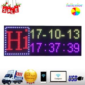 P13 logo electrónico programable LED de publicidad al aire libre llevó rodando tamaño de pantalla de información 39 * 14inch