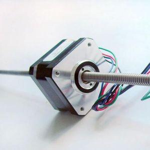 Moteur pas-à-pas linéaire de 4 degrés à 1,8 degré NEMA 17 châssis de 42 mm avec haute précision Longueur de 130 mm de l'essieu T6.35