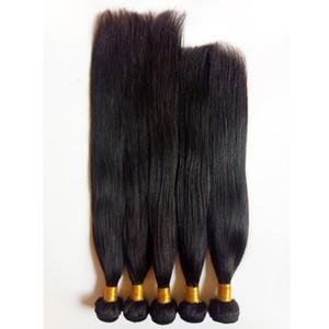 Четыре сезона красота Straight Soft Бразильского Human Плетение волос Uglam волосы Дешевых Двойной Уток Европейских человеческие волосы 5шт / серия Natural Color Dyeable