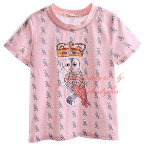 Cutestyles новое прибытие футболка для мальчиков милый животных и Корона мультфильм шаблон печати топы с O шеи воротник и короткими рукавами BT90318-14L