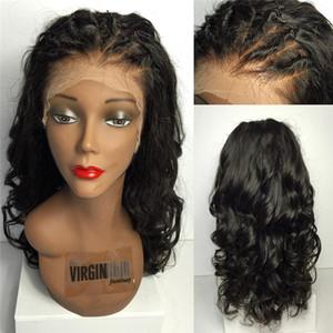 Nueva llegada Pelucas de cabello humano peruano 150% 9A Pelucas de encaje completo de encaje de alto rango