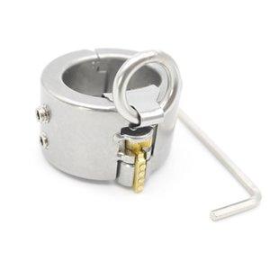 Sex Cock Steel Ring Ringe für Edelstahl Käfig Menjouets Hodensack Erwachsene Keuschheit Sklave Männliche Erwachsene Spiele, Fetisch Metal Spielzeug für in Bondag vqqf