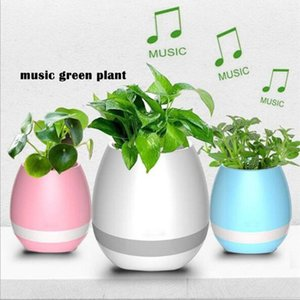 Garden Mini Flower Pots Night Light Smart Touch Planters & Pots Lamp Rechargeable Wireless Bluetooth Planter Best Gift For Kids