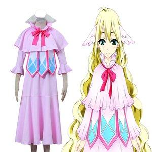 페어리 테일 Mavis Vermillion Cosplay Costume 고품질의 드레스 핑크 예쁜 소녀 의상 할로윈 파티