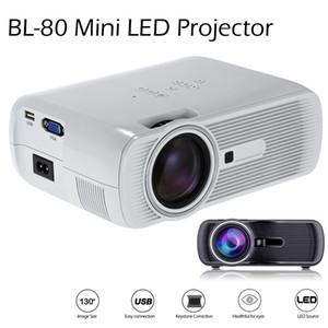 2016 BL-80 Mini proiettore LED portatile 1000 Lumens TFT LCD Full HD AV USB SD VGA HDMI Per Videogiochi TV Home Theater Film Proiettore Beamer
