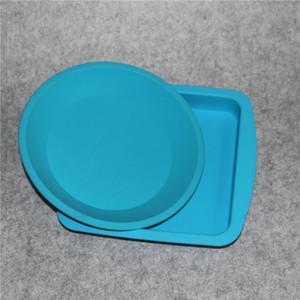Антипригарное FDA Большое силиконовое масло для контейнеров Концентрат BHO Силиконовый поддон Термостойкий силиконовый поддон Глубокая тарелка Круглая сковорода
