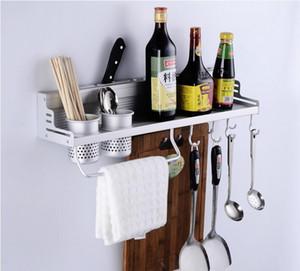 80 см две чашки алюминиевая кухня стеллаж для хранения нож вилка ароматизатор организатор настенный многофункциональный стеллаж полка с крючками