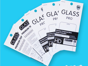 Universal 180 * 88mm Papier Paket Box Verpackung Kästen für iphone 5 6 Samsung Sony gehärtetem Glas Bildschirm Protetor 9H Anti-Fingerabdruck-Film
