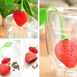 Haushalt Diffusor Tee Werkzeuge Silikon Silikagel Kunststoff Erdbeere Form Teesieb Filter Teelöffel Sieb Hohe Qualität Tee Werkzeug Kochen