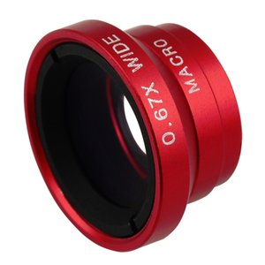 Angle Macro Camera 0.67X Wide Lens for Mobile Phones for iPhone and Tablets red Wholesale