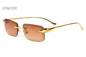 2017 Марка солнцезащитные очки старинные ретро солнцезащитные очки золото серебряные рамки очки прозрачные линзы пилот рог буйвола очки очки поставляются с коробкой